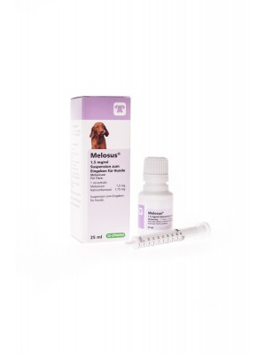 MELOSUS 1,5mg/ml, geriamoji suspensija 25 ml
